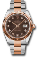 Rolex Watches: Datejust 41 Steel and Pink Gold - Fluted Bezel - Oyster 126331 chodo