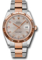 Rolex Watches: Datejust 41 Steel and Pink Gold - Fluted Bezel - Oyster 126331 sudo