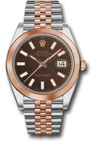 Rolex Watches: Datejust 41 Steel and Pink Gold - Smooth Bezel - Jubilee  126301 choij