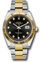 Rolex Watches: Datejust 41 Steel and Yellow Gold - Fluted Bezel - Oyster 126333 bkdo