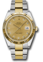Rolex Watches: Datejust 41 Steel and Yellow Gold - Fluted Bezel - Oyster 126333 chdo