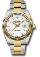 Rolex Watches: Datejust 41 Steel and Yellow Gold - Fluted Bezel - Oyster 126333 wio