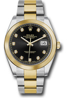 Rolex Watches: Datejust 41 Steel and Yellow Gold - Smooth Bezel - Oyster 126303 bkdo