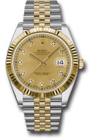 Rolex Watches: Datejust 41 Steel and Yelow Gold - Fluted Bezel - Jubilee 126333 chdj