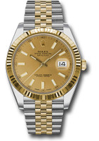 Rolex Watches: Datejust 41 Steel and Yelow Gold - Fluted Bezel - Jubilee 126333 chij