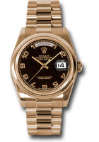 Rolex Watches: Day-Date President Pink Gold - Domed Bezel - President 118205 bkap