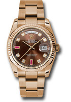 Rolex Watches: Day-Date President Pink Gold - Fluted Bezel - Oyster 118235 chodro
