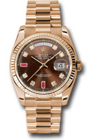 Rolex Watches: Day-Date President Pink Gold - Fluted Bezel - President 118235 chodrp