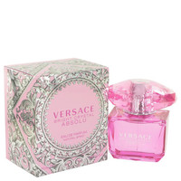 Gift Set -- 3 oz Eau De Parfum Spray + 3.4 oz Body Lotion + Gold Versace Keychain