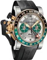 Graham Chronofighteroversize Gmtsilver Brg Steel &Gold