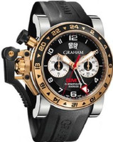 Graham Chronofighteroversize Gmtblack Steel &Gold