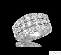 Ziva 3-Row Diamond Anniversary Ring
