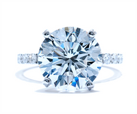 3.95 Ct Round Brilliant Diamond Engagement Ring