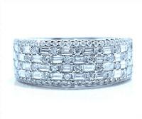 1.65 cttw Diamond Ring in 18k White Gold