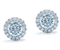 1.26 cttw Round Diamond Earrings In 18k White Gold