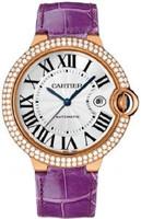 Cartier Ballon Bleu Large (RG Diamonds/Silver/ Leather)