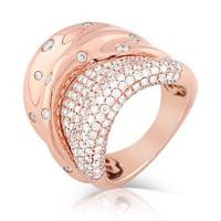 2.11ct Diamond Ring Set In 18k Rose Gold