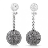 6.34 Ct Tw Diamond Round Drop Earrings
