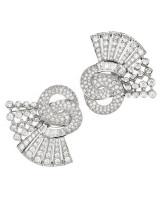 Gayubo 18K WG Diamond 2-Piece Brooch 7152