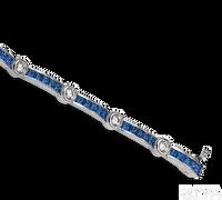 Ziva Square Sapphire & Diamond Bracelet