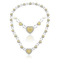 11.67 Ct Fancy Yellow Diamond Necklace