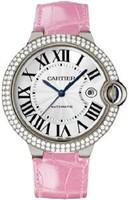 Cartier Ballon Bleu Large (WG Diamonds/Silver/ Leather)