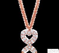 Ziva Heart Diamond Pendant in Rose Gold