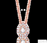 Ziva Pear Shaped Diamond Pendant in Rose Gold