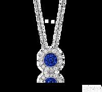 Ziva Sapphire Pendant with Halo