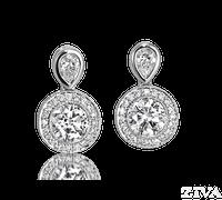 Ziva Antique Diamond Earrings