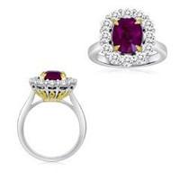 4.86 Ct Ruby & Diamond Ring (rd 1.34ct, Rb 3.52ct)