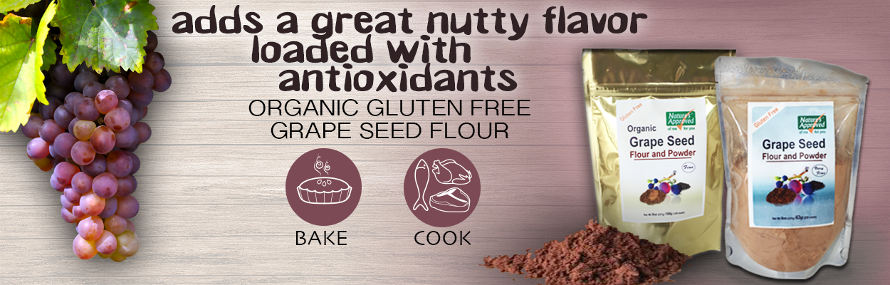 Organic Grape Seed Flour for baking
