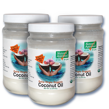 Organic Garlic Coconut Oil, the best and healthiest way to serve or use garlic flavor,