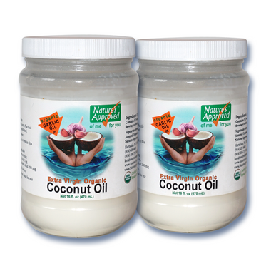 A fabulous New Organic Garlic Coconut Oil, the  healthiest way to serve or use garlic flavor,