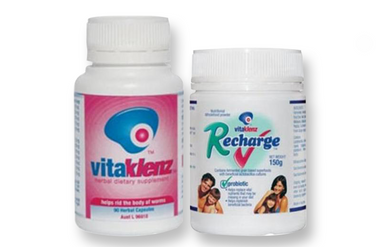 Viatklenz and Recharge Combination to support a healthy digestive system.