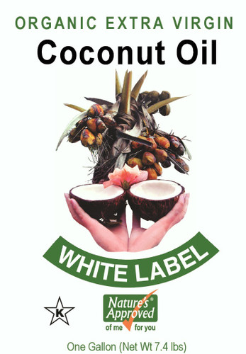 Nature's Approved ® Extra Virgin Organic WHITE Not refined, bleached, or deodorized (RBD) Cold-pressed, non-hydrogenated, and non-GMO.LABEL Coconut Oil