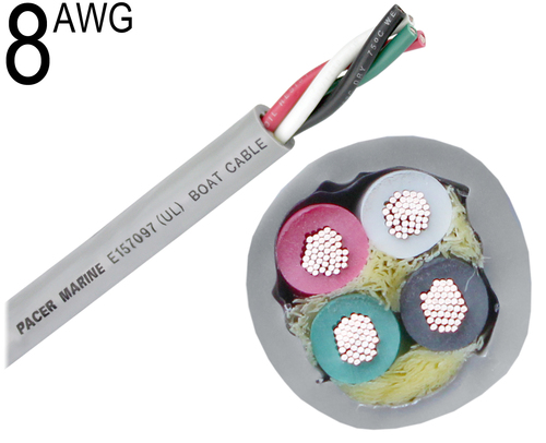 Round Boat Cable, 8 AWG