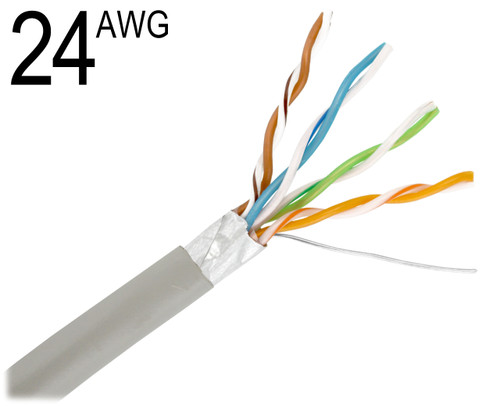 CAT5, 24 AWG, Shielded Solid Bare Copper