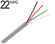 22 AWG Multiconductor Unshielded, 4 conductor