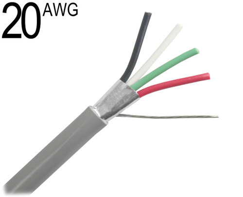 Shielded Multiconductor Cable, 20 AWG
