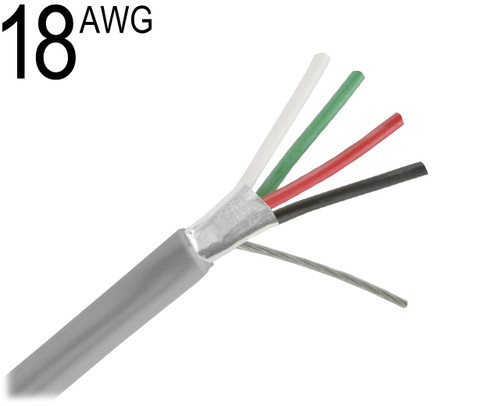 Shielded Multiconductor Cable, 18 AWG