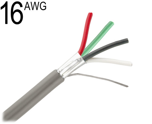 Shielded Multiconductor Cable, 16 AWG