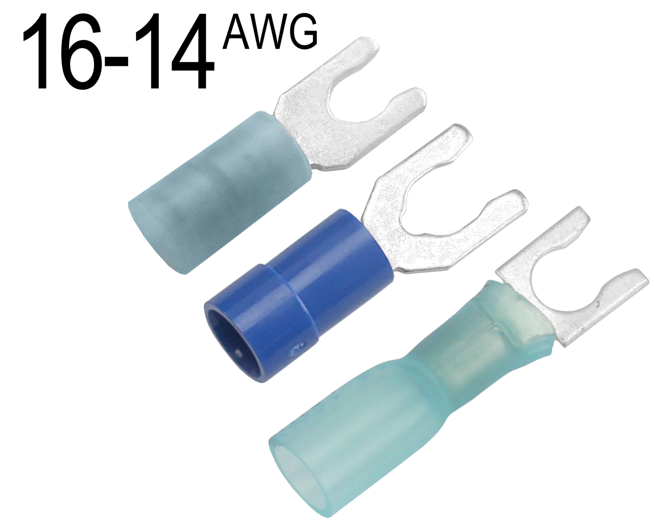 Fork Terminals for 16 AWG - 14 AWG Wire