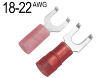 Flanged Fork Terminals for 22 AWG - 18 AWG