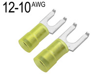 Flanged Fork Terminals for 12 AWG - 10 AWG