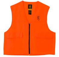 Browning Safety Blaze Overlay Hunting Vest-Blaze Orange-Small (3051000101)