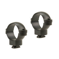 "Leupold Double Dovetail 1"" Medium Height Rings Matte Black (49916)"