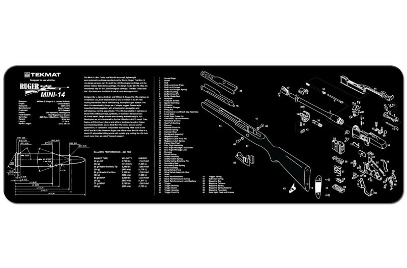 Tekmat Ruger Mini 14 12 X 36 Rifle Gun Cleaning Mat