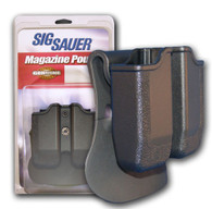 SigTac Double Mag Pouch-Paddle-Sig P220 & 1911 Black (MAGP-DBL-220-BLK)
