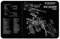 """TekMat SIG SAUER P220 11""""x17"""" Gun Cleaning Mat W/Exploded View (17-SIGP220)"""